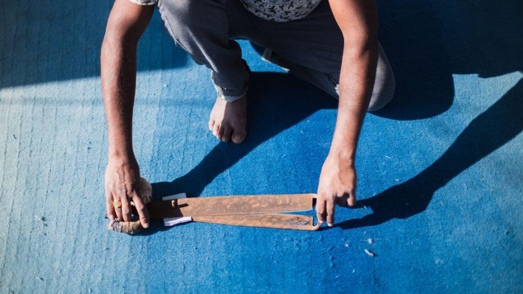 Finishing a rug